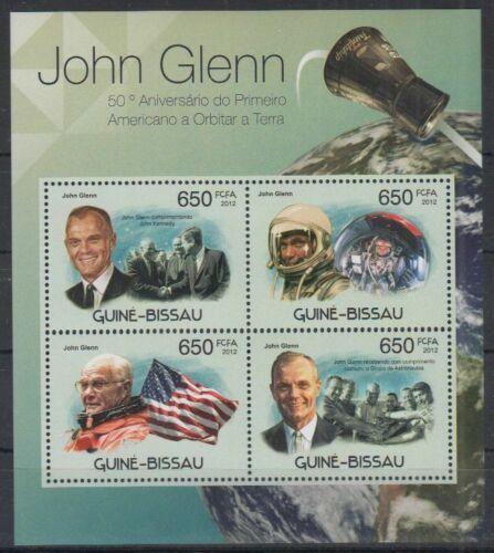 Poštovní známky Guinea-Bissau 2012 John Glenn Mi# 5882-85 Kat 10€