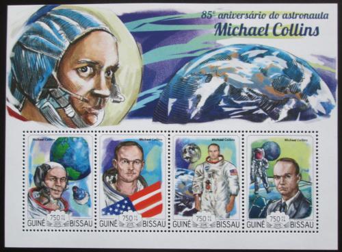 Poštovní známky Guinea-Bissau 2015 Michael Collins, kosmonaut Mi# 7644-47 Kat 14€