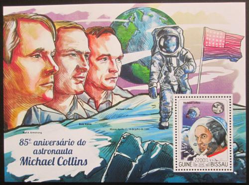 Poštovní známka Guinea-Bissau 2015 Michael Collins Mi# Block 1331 Kat 8.50€