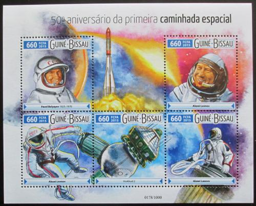 Poštovní známky Guinea-Bissau 2015 Prùzkum vesmíru Mi# 8175-79 Kat 12.50€