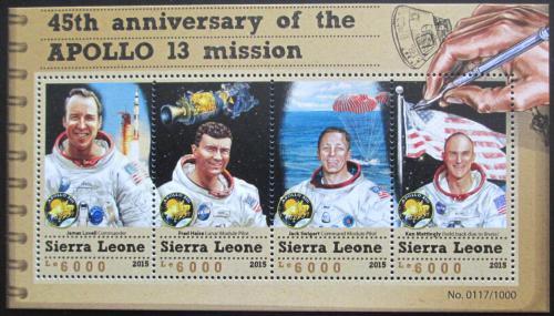Poštovní známky Sierra Leone 2015 Mise Apollo 13 Mi# 6642-45 Kat 11€