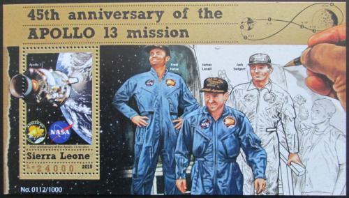 Poštovní známka Sierra Leone 2015 Mise Apollo 13 Mi# Block 861 Kat 11€