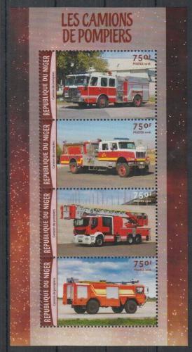 Poštovní známky Niger 2016 Hasièská auta Mi# 4197-4200 Kat 12€