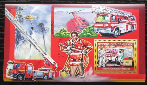 Poštovní známka Guinea 2006 Nìmeètí hasièi DELUXE Mi# Block 1071