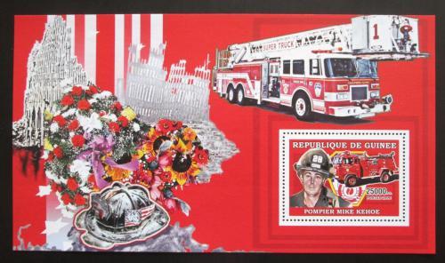Poštovní známka Guinea 2006 Hasièi z New Yorku Mi# Block 977