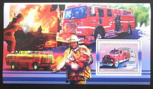 Poštovní známka Guinea 2006 Ameriètí hasièi DELUXE Mi# Block 1064