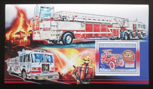 Poštovní známka Guinea 2006 Ameriètí hasièi DELUXE Mi# Block 1065