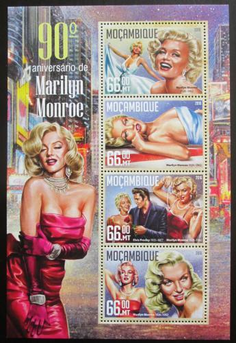 Poštovní známky Mosambik 2016 Marilyn Monroe Mi# 8529-32 Kat 15€