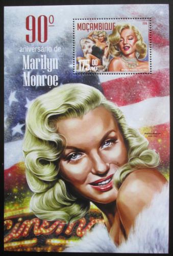 Poštovní známka Mosambik 2016 Marilyn Monroe Mi# Block 1146 Kat 10€