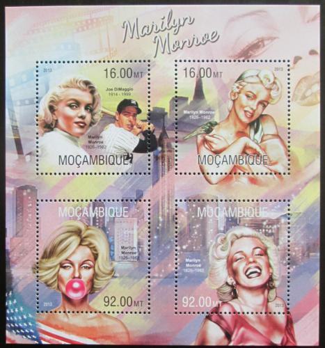 Poštovní známky Mosambik 2013 Marilyn Monroe Mi# 6742-45 Kat 13€