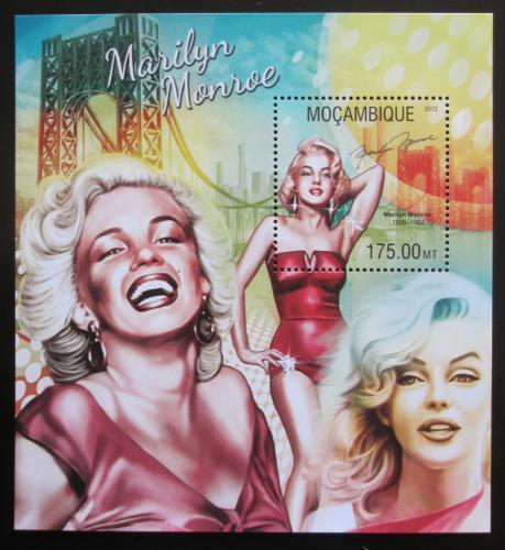 Poštovní známka Mosambik 2013 Marilyn Monroe Mi# Block 788 Kat 10€