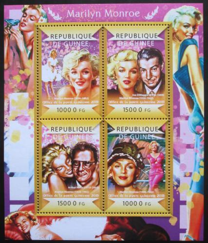 Poštovní známky Guinea 2015 Marilyn Monroe Mi# 10972-75 Kat 20€