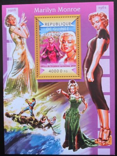 Poštovní známka Guinea 2015 Marilyn Monroe Mi# Block 2490 Kat 16€