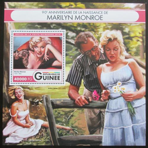 Poštovní známka Guinea 2016 Marilyn Monroe Mi# Block 2695 Kat 16€
