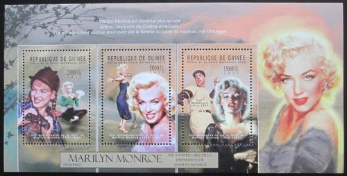 Poštovní známky Guinea 2012 Marilyn Monroe Mi# 9380-82 Kat 16€