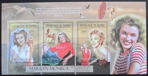 Poštovní známky Guinea 2012 Marilyn Monroe Mi# 9383-85 Kat 16€