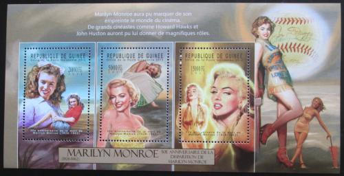 Poštovní známky Guinea 2012 Marilyn Monroe Mi# 9386-88 Kat 16€