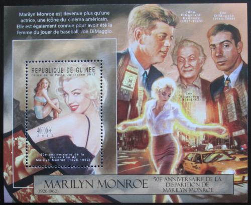 Poštovní známka Guinea 2012 Marilyn Monroe Mi# Block 2134 Kat 16€
