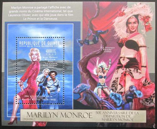 Poštovní známka Guinea 2012 Marilyn Monroe Mi# Block 2135 Kat 16€