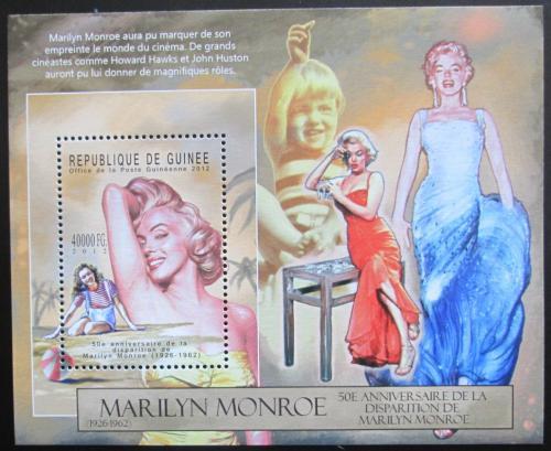 Poštovní známka Guinea 2012 Marilyn Monroe Mi# Block 2136 Kat 16€