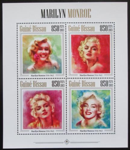 Poštovní známky Guinea-Bissau 2013 Marilyn Monroe Mi# 6818-21 Kat 14€