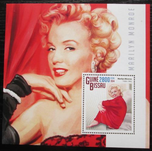 Poštovní známka Guinea-Bissau 2014 Marilyn Monroe Mi# Block 1311 Kat 11€