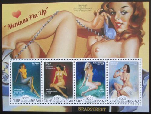 Poštovní známky Guinea-Bissau 2015 Modelky, umìní Pin-up Mi# 7769-72 Kat 14€