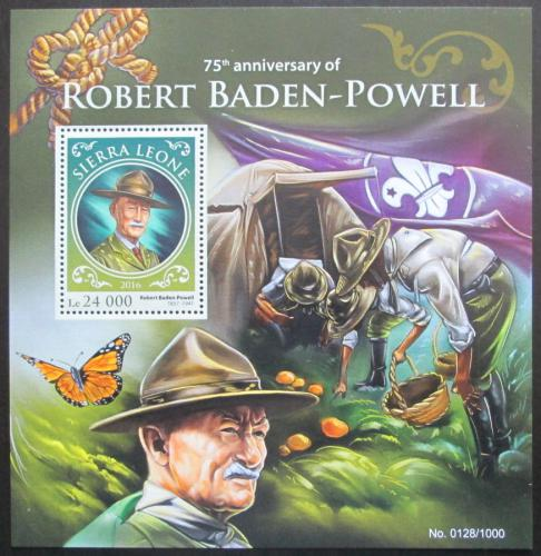 Poštovní známka Sierra Leone 2016 Robert Baden-Powell Mi# Block 925 Kat 11€