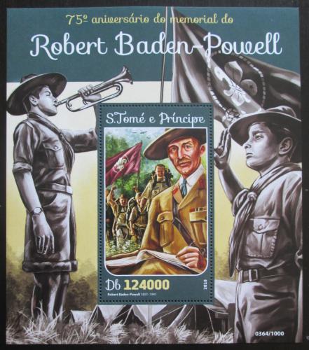 Poštovní známka Svatý Tomáš 2016 Robert Baden-Powell Mi# Block 1164 Kat 12€