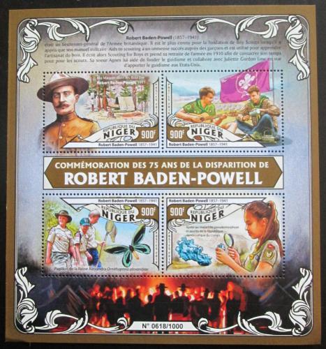 Poštovní známky Niger 2016 Robert Baden-Powell Mi# 4042-45 Kat 14€