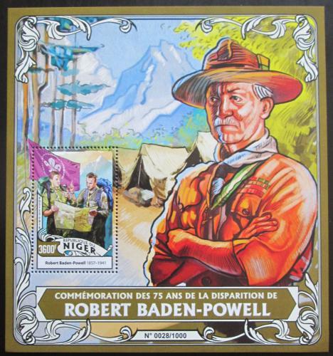 Poštovní známka Niger 2016 Robert Baden-Powell Mi# Block 513 Kat 14€
