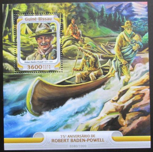 Poštovní známka Guinea-Bissau 2016 Robert Baden-Powell Mi# Block 1474 Kat 13.50€