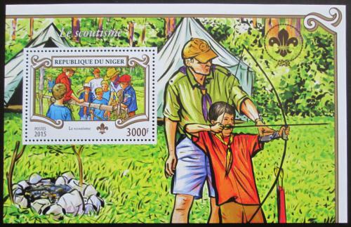 Poštovní známka Niger 2015 Skauti Mi# Block 461 Kat 12€