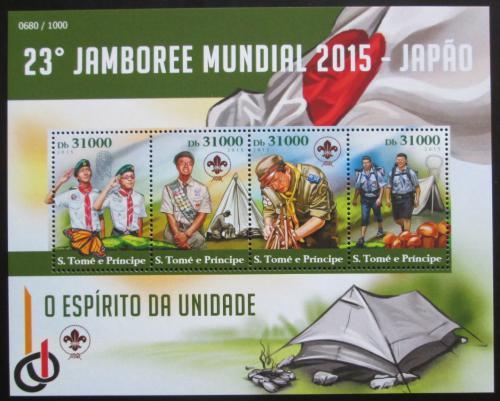 Poštovní známky Svatý Tomáš 2015 Skautské jamboree v Japonsku Mi# 6278-81 Kat 12€