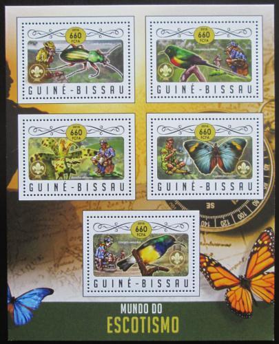 Poštovní známky Guinea-Bissau 2016 Skauti a fauna Mi# 8967-71 Kat 12.50€