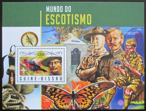 Poštovní známka Guinea-Bissau 2016 Skauti a fauna Mi# Block 1550 Kat 12.50€