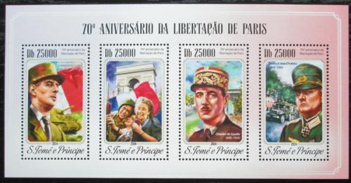 Poštovní známky Svatý Tomáš 2014 Osvobození Paøíže Mi# 5940-43 Kat 10€
