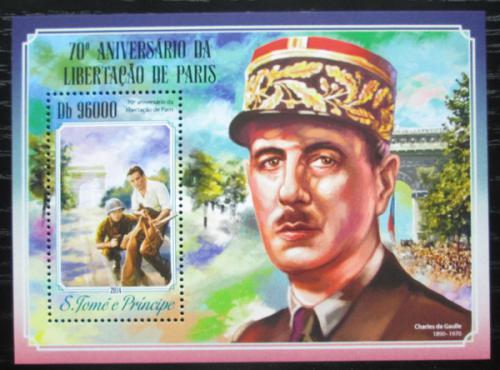 Poštovní známka Svatý Tomáš 2014 Osvobození Paøíže Mi# Block 1044 Kat 10€