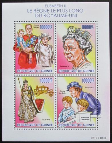 Poštovní známky Guinea 2015 Královna Alžbìta II. Mi# 11363-66 Kat 16€