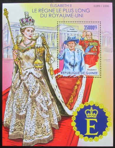 Poštovní známka Guinea 2015 Královna Alžbìta II. Mi# Block 2569 Kat 14€