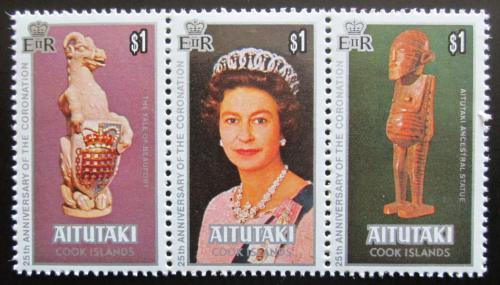 Poštovní známky Aitutaki 1978 Královna Alžbìta II. Mi# 295-97