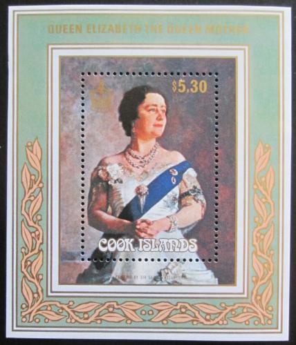 Poštovní známka Cookovy ostrovy 1985 Královna Matka Mi# Block 156 Kat 8.50€