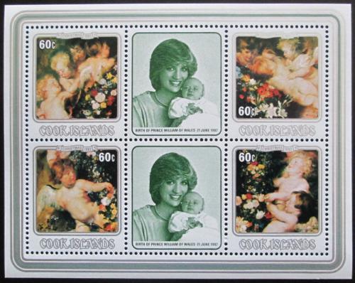 Poštovní známky Cookovy ostrovy 1982 Diana, umìní, Rubens Mi# Block 127 Kat 8€