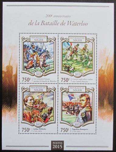 Poštovní známky Niger 2015 Bitva u Waterloo, Napoleon Mi# 3325-28 Kat 12€