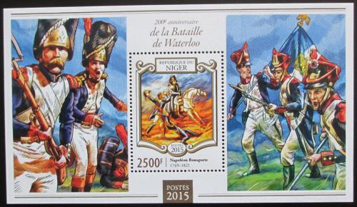 Poštovní známka Niger 2015 Bitva u Waterloo, Napoleon Mi# Block 409 Kat 10€