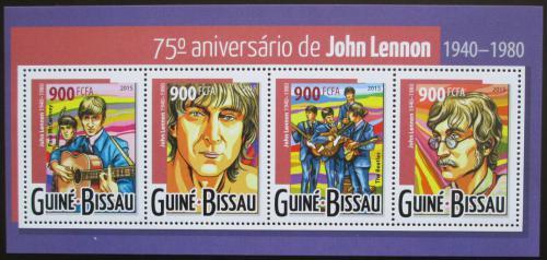 Poštovní známky Guinea-Bissau 2015 John Lennon, The Beatles Mi# 8016-19 Kat 14€