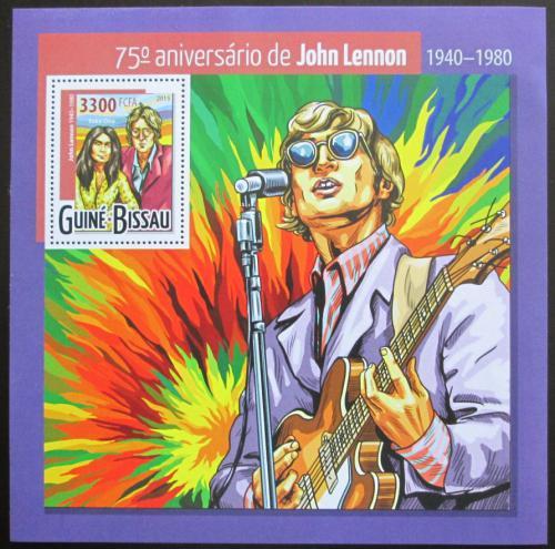 Poštovní známka Guinea-Bissau 2015 John Lennon, The Beatles Mi# Block 1395 Kat 13€
