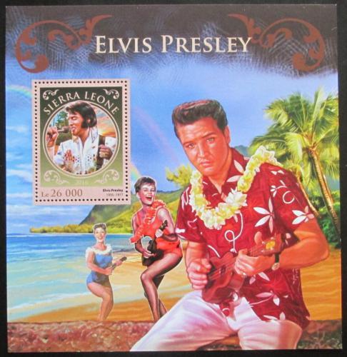 Poštovní známka Sierra Leone 2016 Elvis Presley Mi# Block 1070 Kat 12€