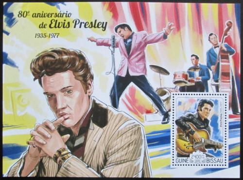 Poštovní známka Guinea-Bissau 2015 Elvis Presley Mi# Block 1332 Kat 9€
