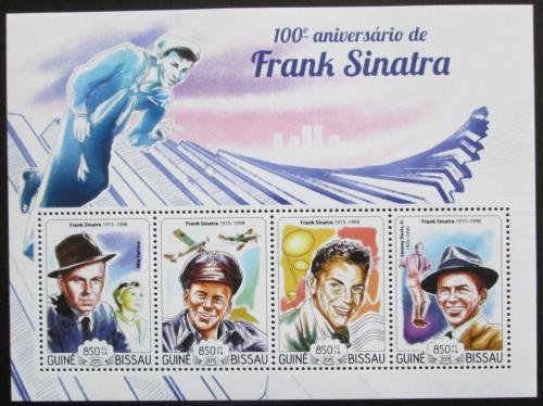 Poštovní známky Guinea-Bissau 2015 Frank Sinatra Mi# 7629-32 Kat 14€